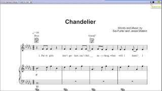 Chandelier by Sia Piano Sheet Music:Teaser