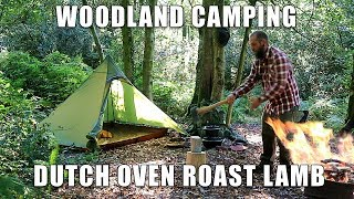 Woodland Camp with Dutch Oven Roast Lamb