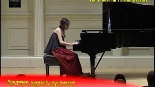 "Gillian Geraldine Gani  in ""The Indonesia Pusaka Piano Recital"" - Carnegie Hall, New York"