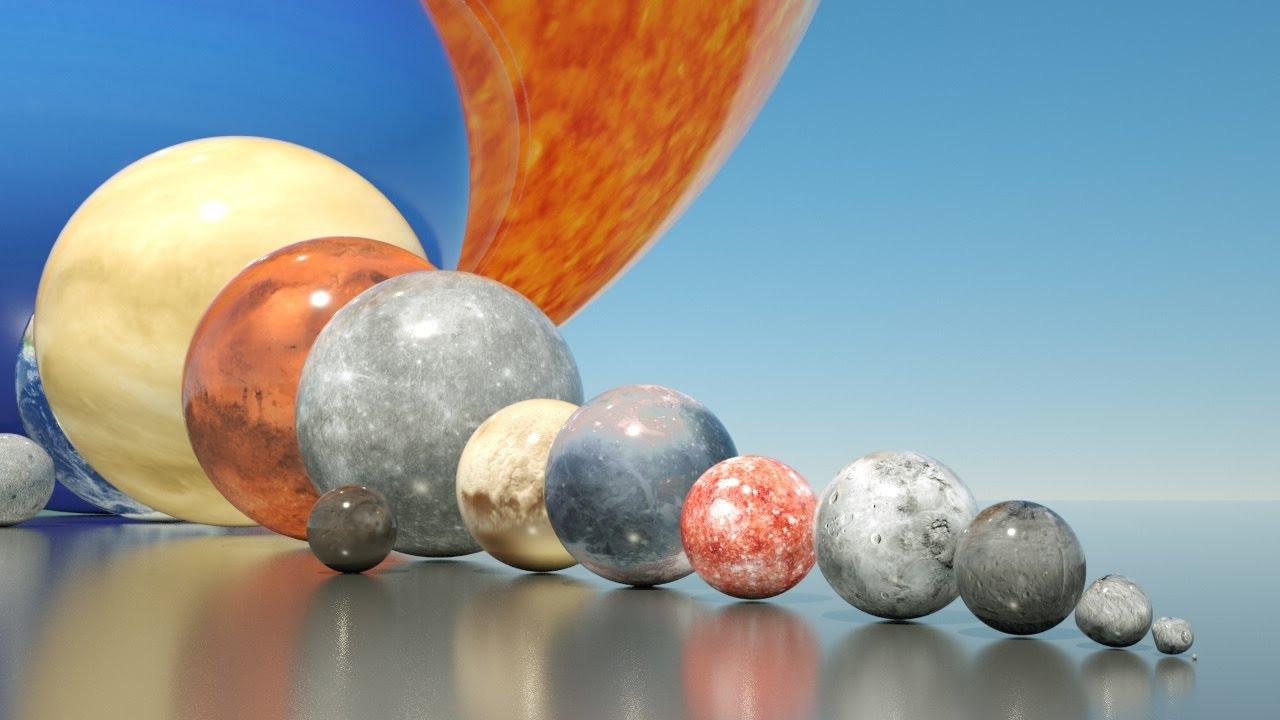 solar system size comparison [ 1280 x 720 Pixel ]