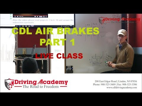 CDL Training - How to Pass Air Brakes Exam - Driving Academy (Part 1)