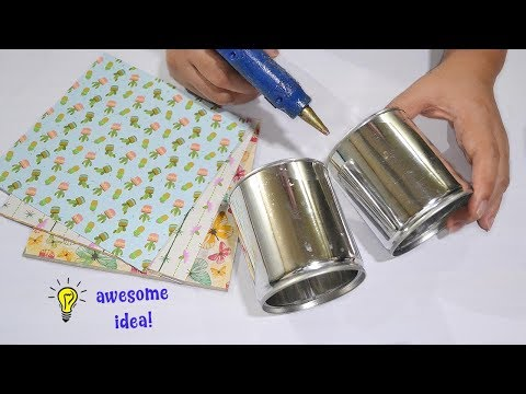 Awesome Tin can idea| best reuse tin can craft| how to recycle tin can