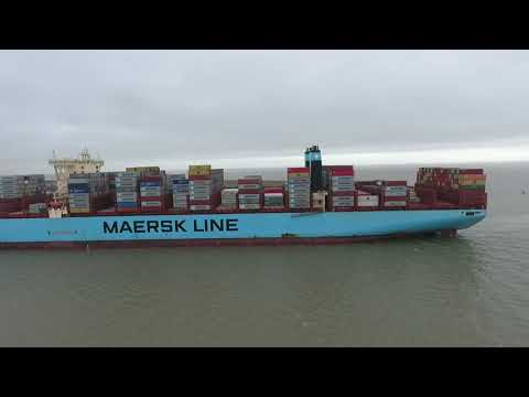 Morten Maersk Container ship by Drone