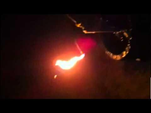 Hydraulic Fracturing turns gardenhose to flamethrower