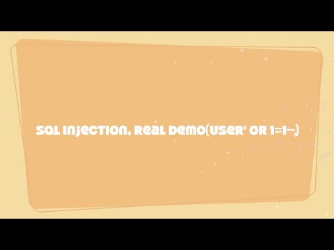 Sql Injection(how To Do Sql Injection)