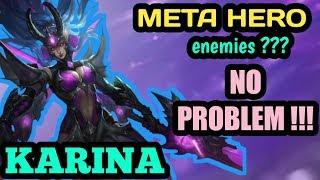 KARINA VS META HEROES? NO PROBLEM | KARINA NEW BUILD | MOBILE LEGENDS