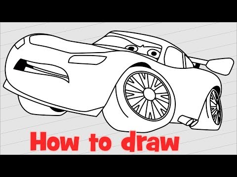 How to draw Jackson Storm from Cars 3 | Doovi