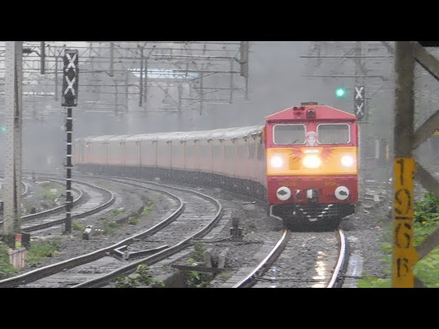 Tejas Express Under Heavy Rains : India's First High Speed Luxurious Train of Indian Railways