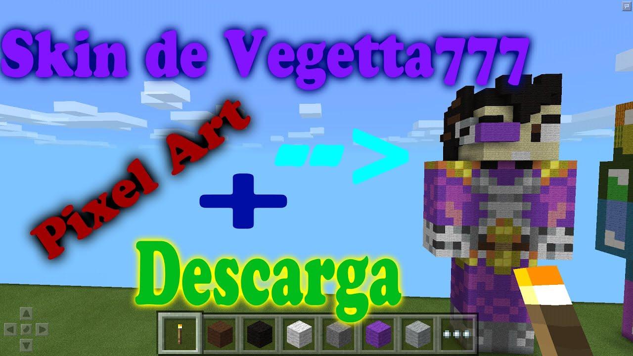 Pixel Art Skin De Vegetta Minecraft PE YouTube - Skin para minecraft pe vegetta777