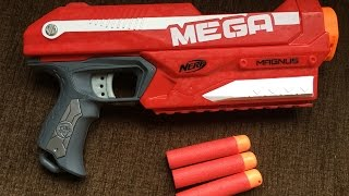 [ NERF TEST & REVIEW ] Nerf Mega Magnus Blaster Unboxing, Review & Firing Te