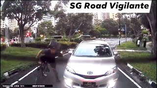 10jul2010 havelock road cyclist was unhappy with toyota wish #EG1702E and attacked the vehicle