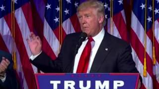 Donald Trump makes victory speech, thanks Hillary Clinton for her service
