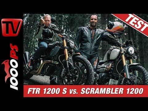 Die Außenseiter Indian FTR 1200 S und Triumph Scrambler 1200 XE im Test