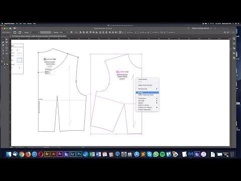 Group patterns in Adobe illustrator - Pattern making tutorial