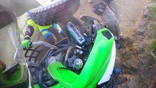 Wypadek na quadzie - hill climb crash - ATV quad fail - Kawasaki kfx 700