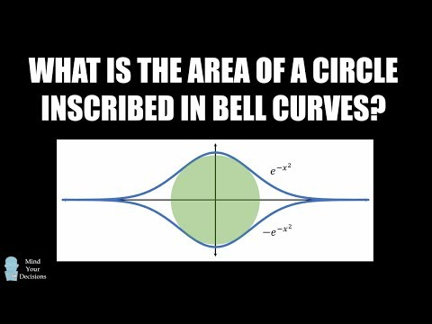 Can You Solve A REALLY HARD Calculus Problem? Circle Inscribed In Bell Curves Puzzle