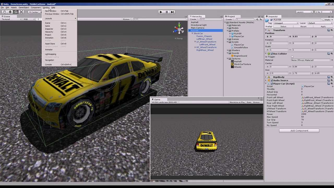 Creating a Mobile Optimized Vehicle in Unity - Unity Game Engine ...