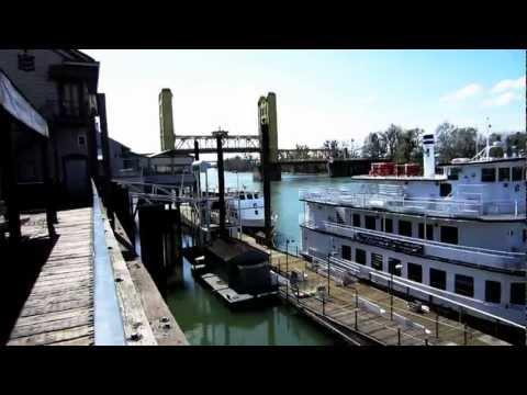 Old Sacramento: Tower Bridge / Delta King, Coffee Spot:  Local Bike Tour