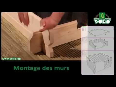 Montage et installation abri de jardin en bois SOLID - YouTube