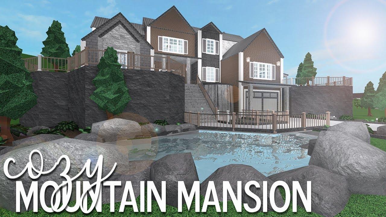 Bloxburg: Cozy Mountain Mansion 105k - YouTube