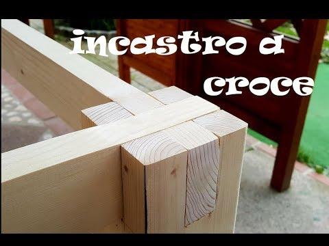 Costruire Un Tavolo Da Giardino.Incastro A Croce E Realizziamo Un Tavolo Da Giardino Youtube