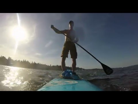 Stand up paddling on Budd Inlet with West Bay Paddleboards