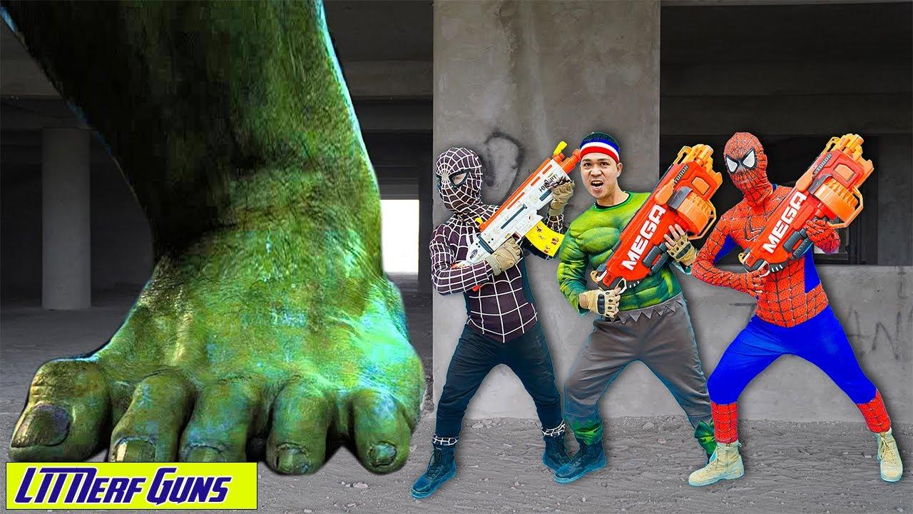 LTT Nerf Guns: Team SWAT X-Shot Nerf Guns Fight Against Criminal Group Destroy Impostor Spiderman
