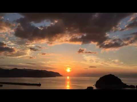 Sunset at Kasumi coast in Hyogo prefecture, timelapse