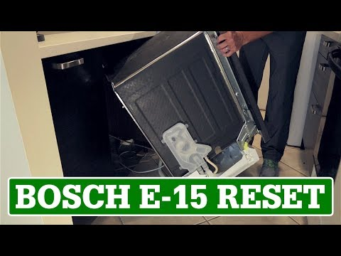 Bosch Dishwasher Reset / E-15 Error Code