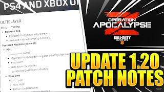 *NEW* COD BO4 UPDATE 1.20 PATCH NOTES - NEW DLC WEAPONS + DAEMON NERF! (UPDATE 1.20 PATCH NOTES)
