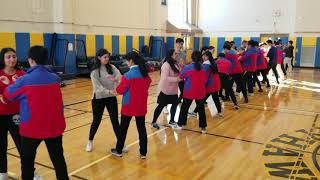 Chinese exchange students learning some Tai Chi here at Jericho HS 2/13/19