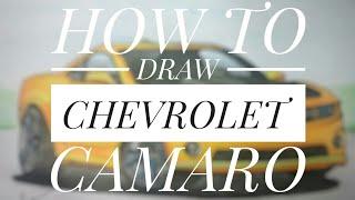 How to draw chevrolet camaro