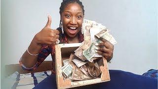 I BROKE MY PIGGY BANK AKA KOLO AFTER ONE YEAR! SHOOK!!