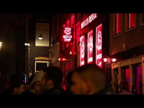 Amsterdam Red Light District Walk Through