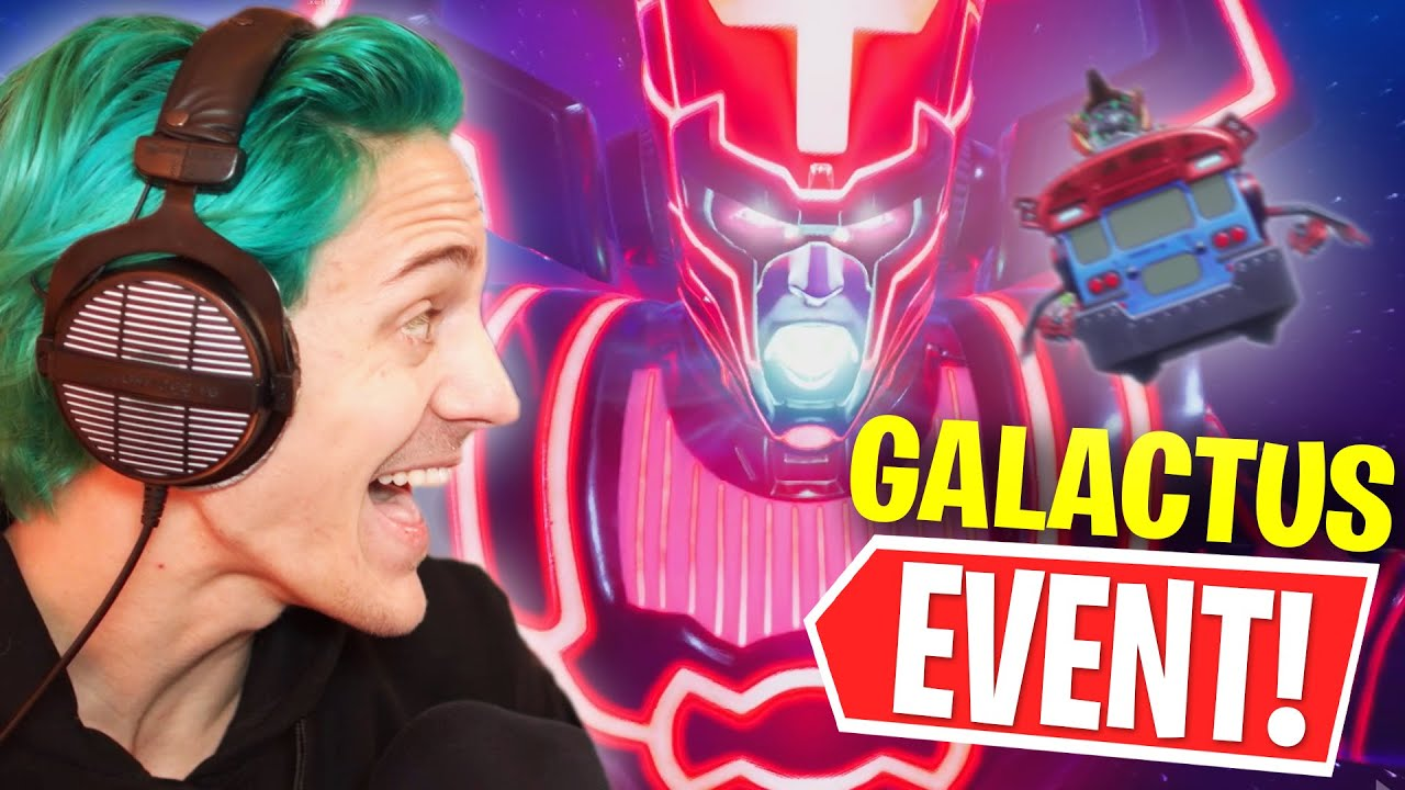 Download Ninja Reacts To The Galactus Fortnite Event!!