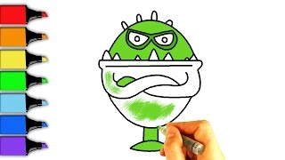 How to Draw Bonsticks.  Learning Coloring Pages for Kids.  Bonsticks 2. LEOCLUB