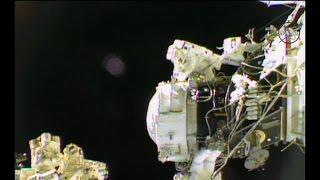 U.S. astronauts go on long-awaited spacewalk
