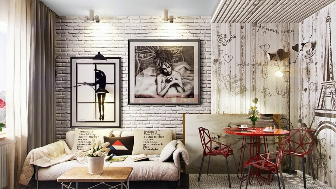 🔝 Brick Wall Decoration Wallpaper Design Ideas | Easy DIY Decal Exposed  Living Bed room House 13