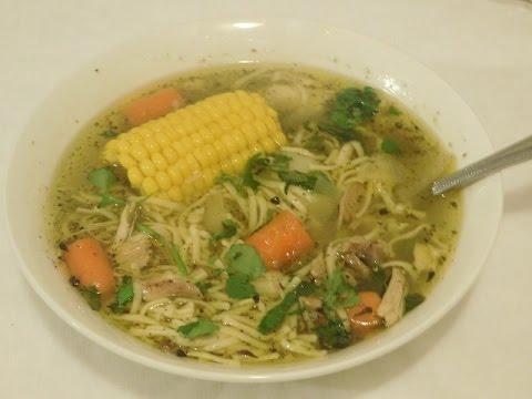 Chicken Noodle Soup Sopa De Pollo Puerto Rican Style Episode 64