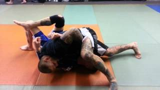 stepping over head to straight arm lock