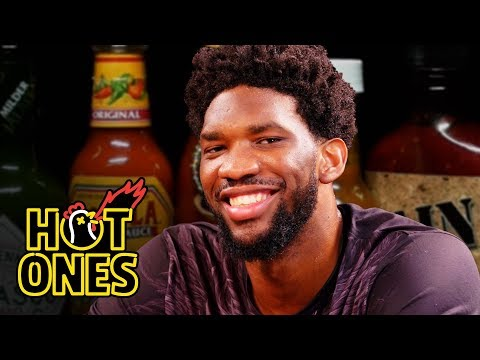 Manny On The Streets - NBA Superstar Joel Embiid eats spicy things *WATCH