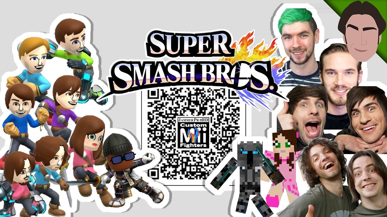 jacksepticeye pewdiepie popularmmos and more mii fighter qr