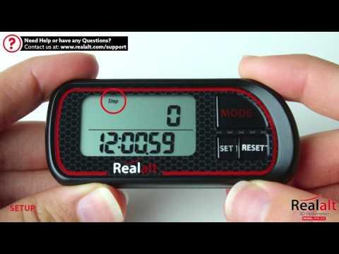 How to Setup the Realalt 3D Pedometer