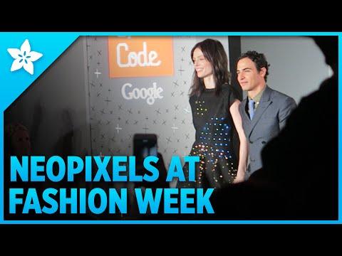 Girls Code FLORA + NeoPixel Dress at Zac Posen Runway Show