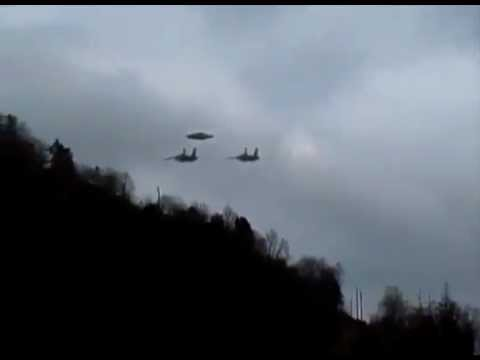 Two Jet Fighters Chasing an UFO
