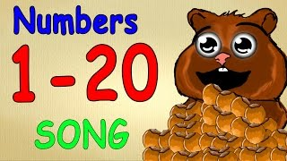 numbers song 1-20 for children - german language lessons for beginners