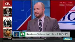 Cavaliers 44% Chance to win  game 5 vs Cetics-Sports Center May 25 2017