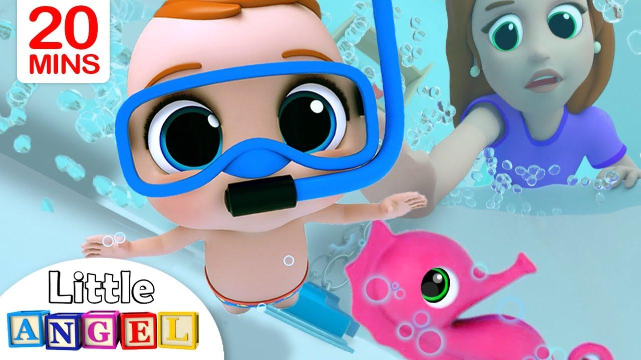 Bath Song | Babys Bath Time | Little Angel Nursery Rhymes & Kids Songs