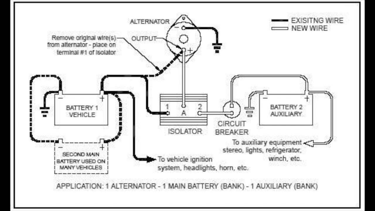 Canadian Energy™ - Battery Isolator : 101 - YouTube on aux battery fuse, aux battery solenoid, ceiling fan wiring, aux battery terminals, aux battery switch,
