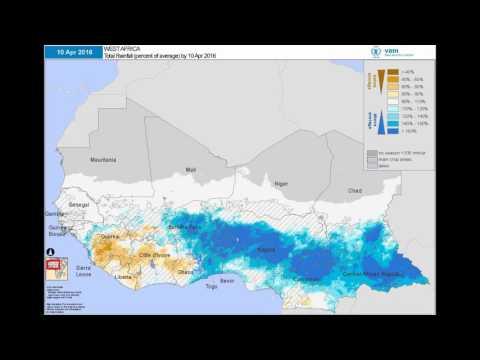 WFP VAM - Seasonal Monitor: West Africa | Cumulative Rainfall (% of Average)